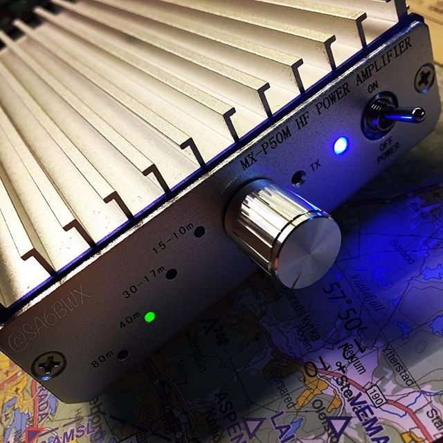 MX-P50M Amp #45w #qrp #mchf #ft817 #hf #shortwave #sa6bwx #hamradio #hamradiouk