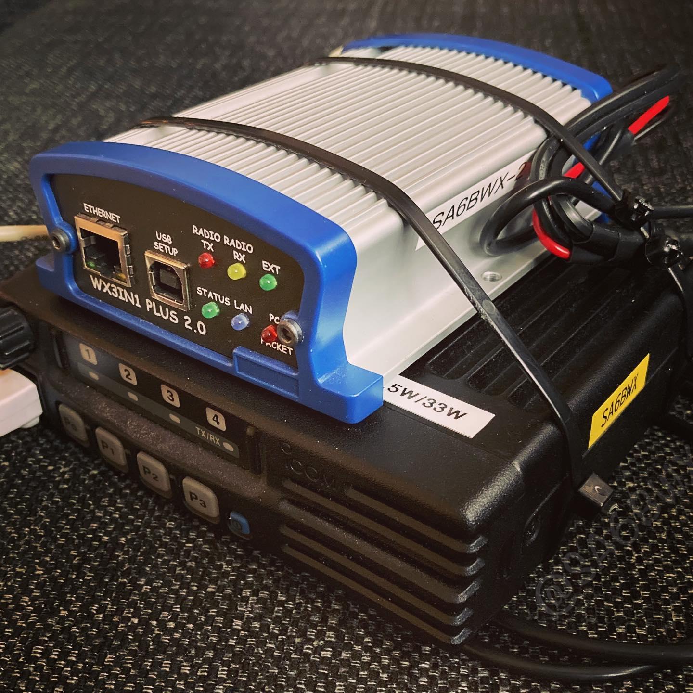 New Aprs Digipeater Build #aprs #icom #wx3in1 #microsat #sa6bwx #sk6lk #hamradio #hamradiouk #amateurradio