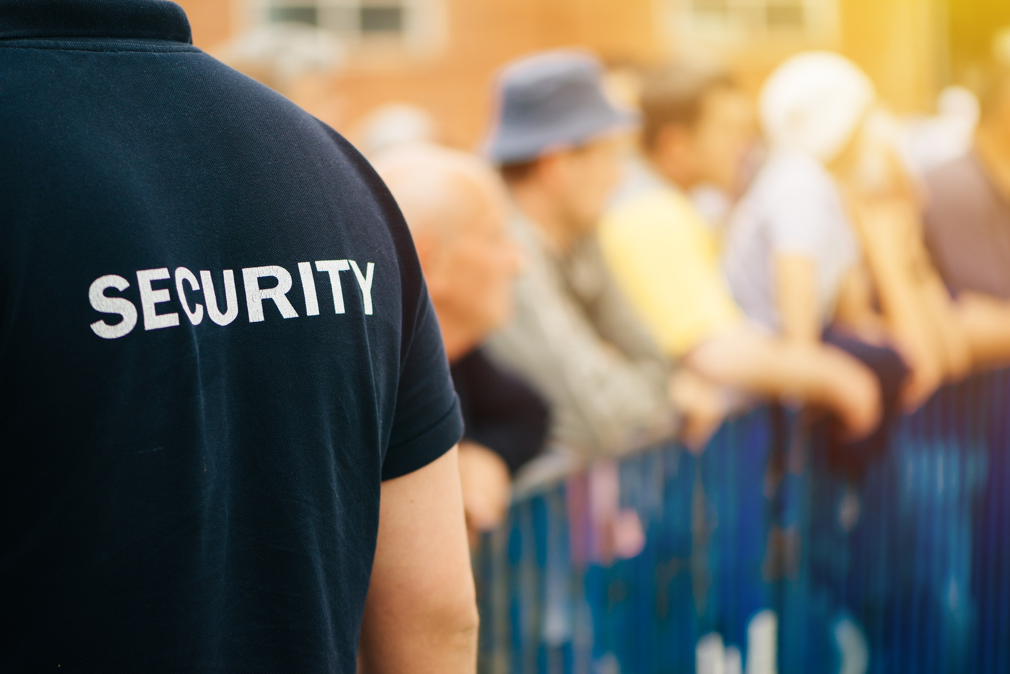 Member of security guard team on public event