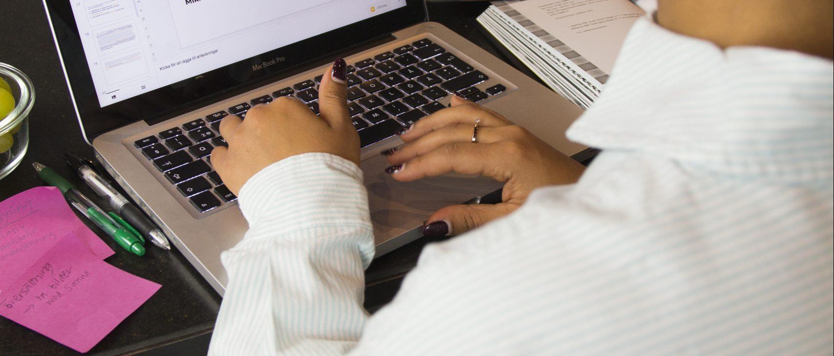 Salem Hands Typing On Keyboard
