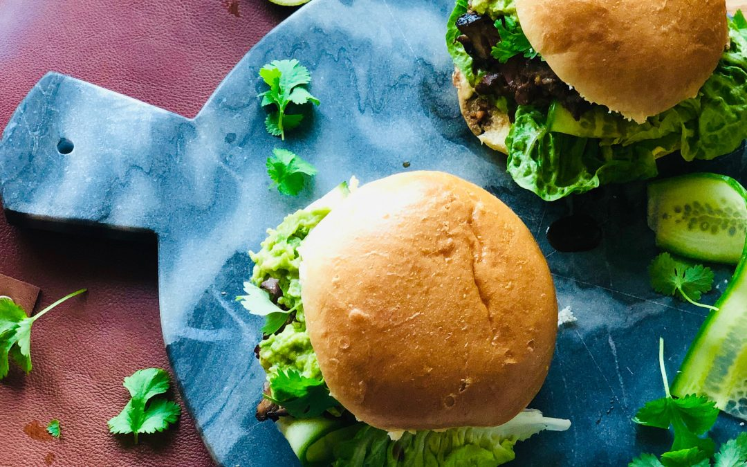 Biffburger med asiatisk marinaden