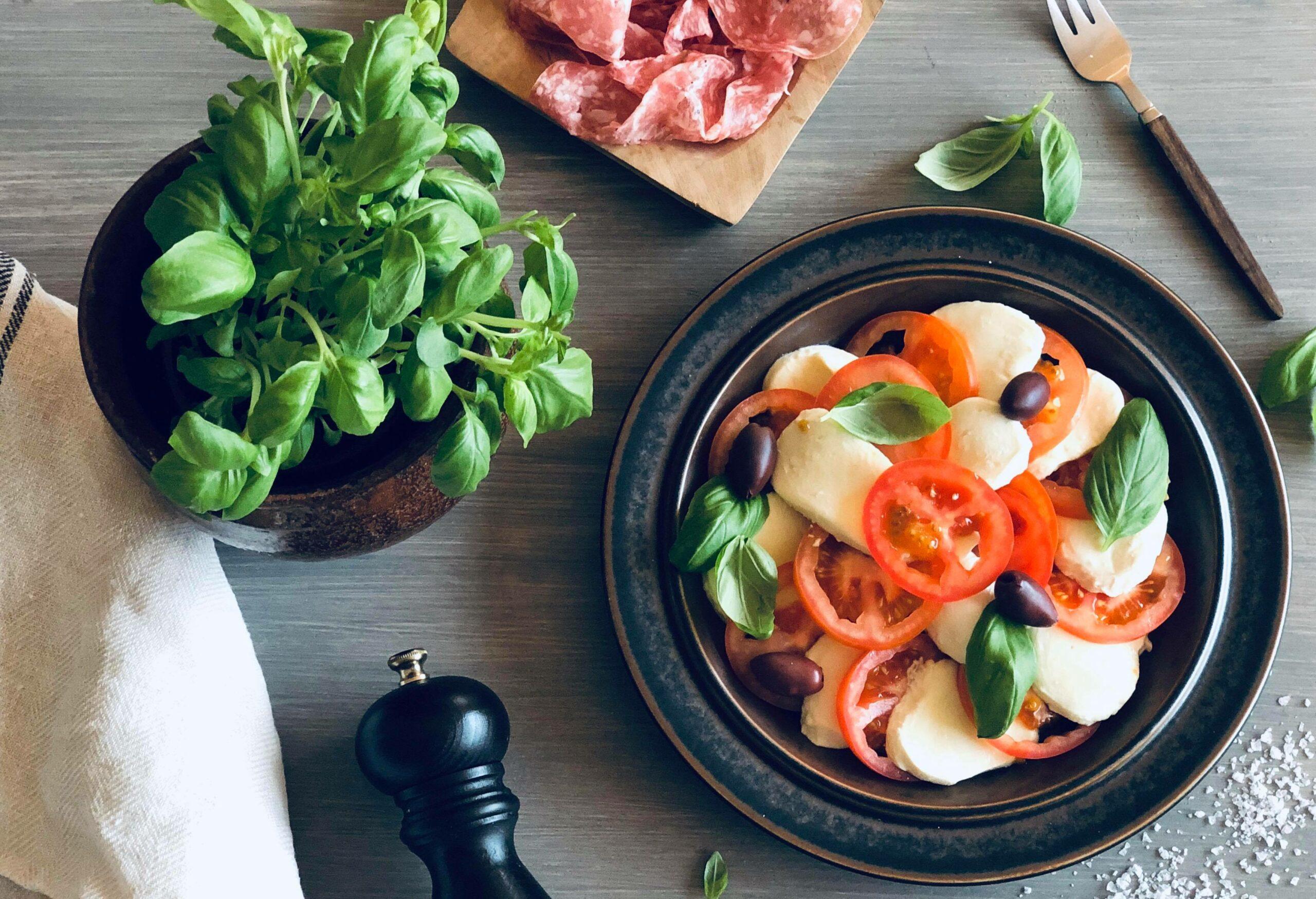 Frisk Caprese-salat