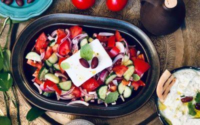 Frisk gresk salat