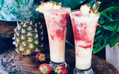 Piña Colada med jordbærswirl