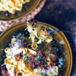 Kremete pasta carbonara med parmesan, bacong og timian