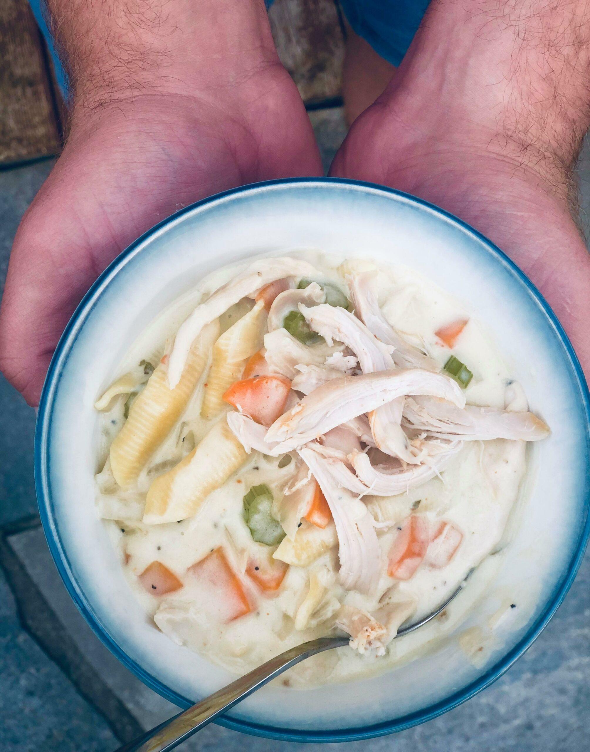 Kremete kyllingsuppe