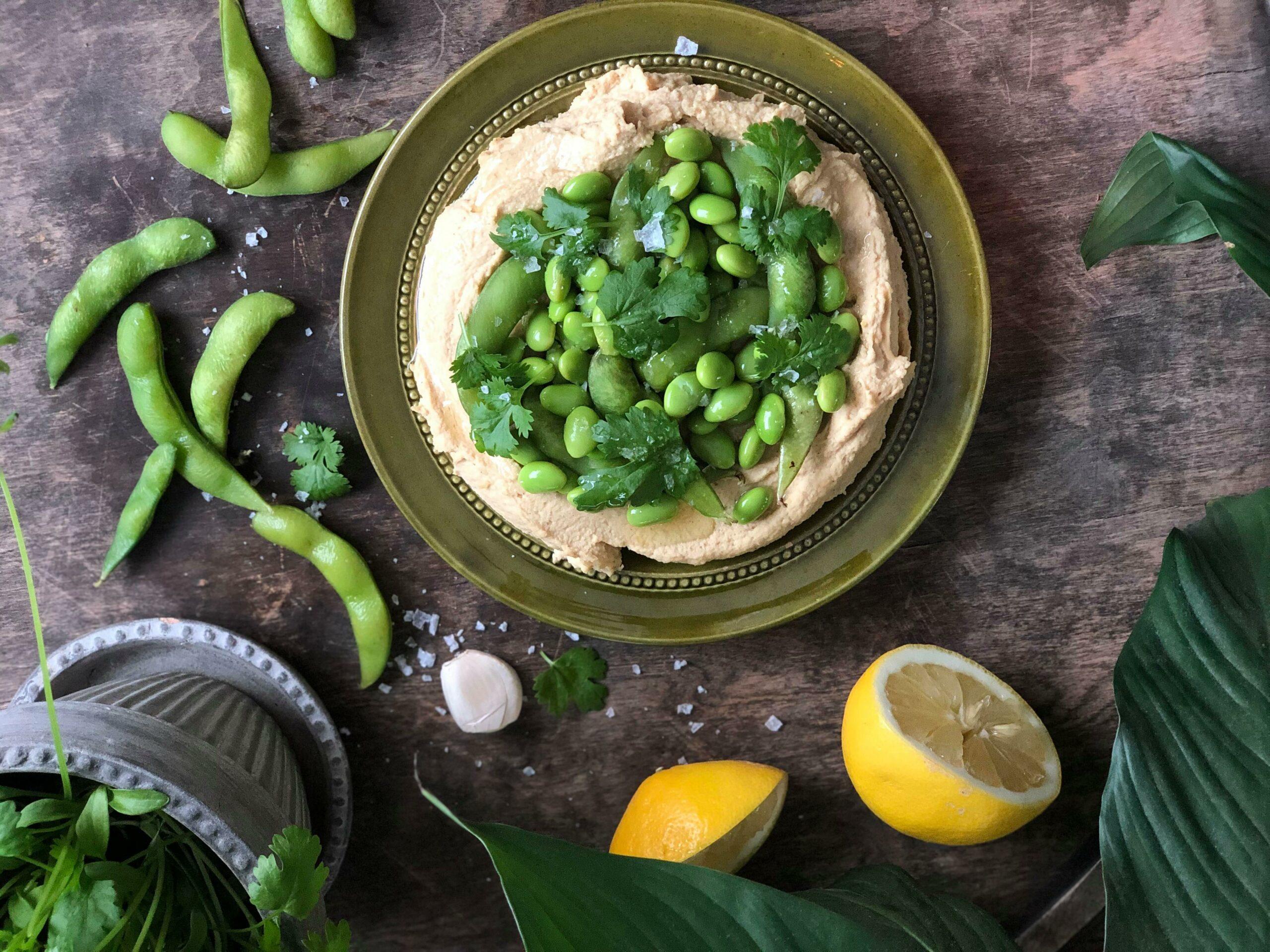 Enkel hummus med edamamebønner