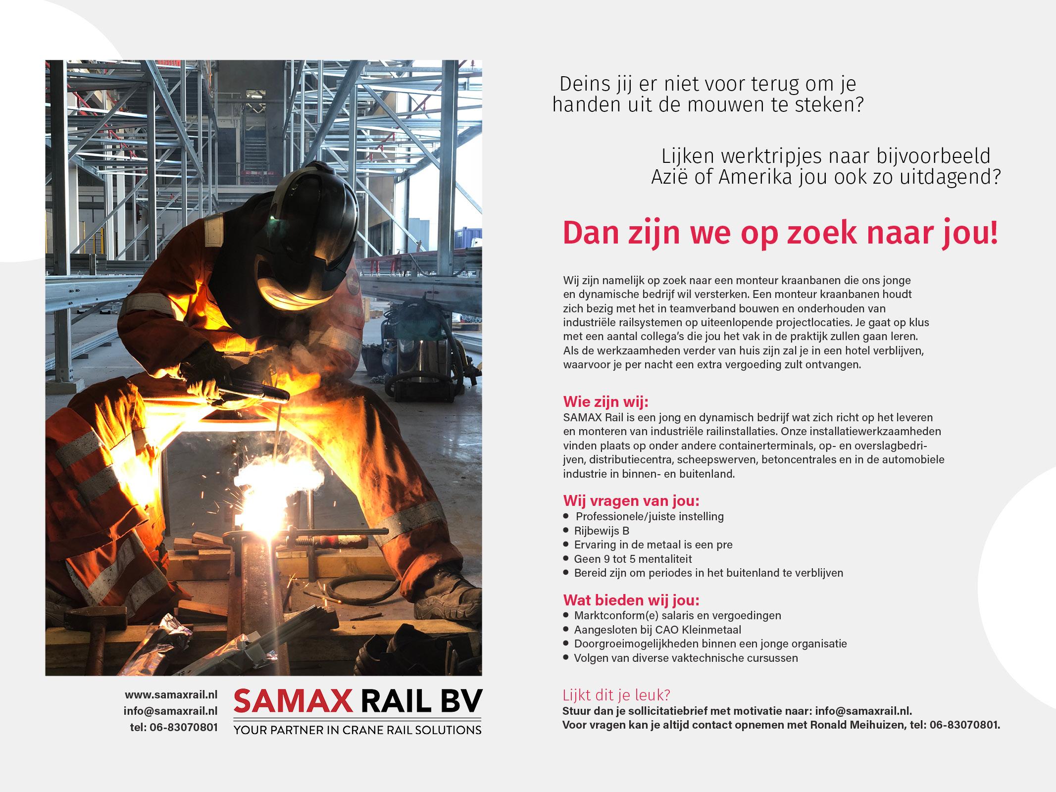 Samaxrail-vacature