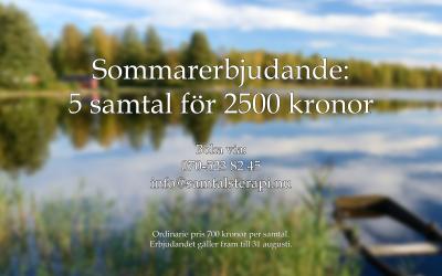 Sommarerbjudande samtalsterapi i Norrtälje