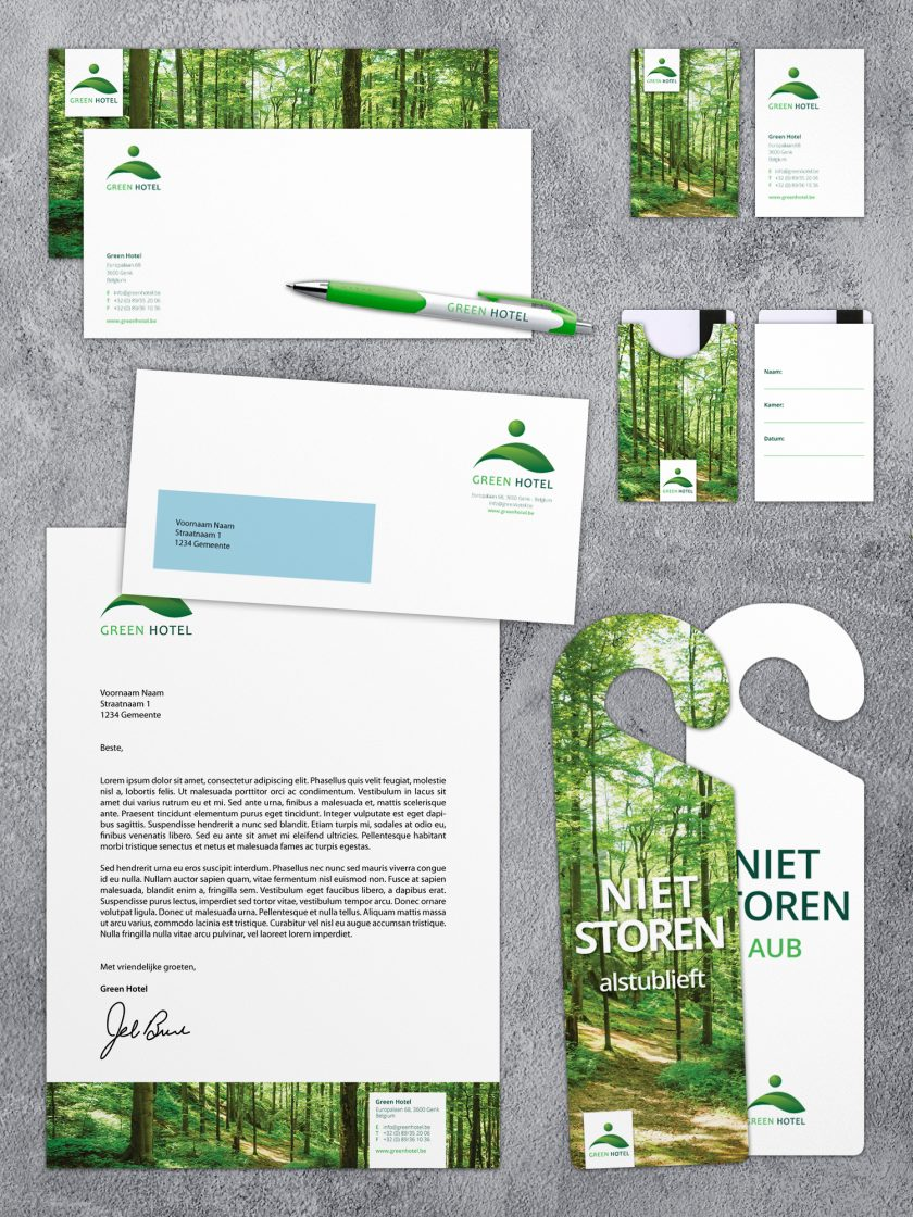Green Hotel huisstijl