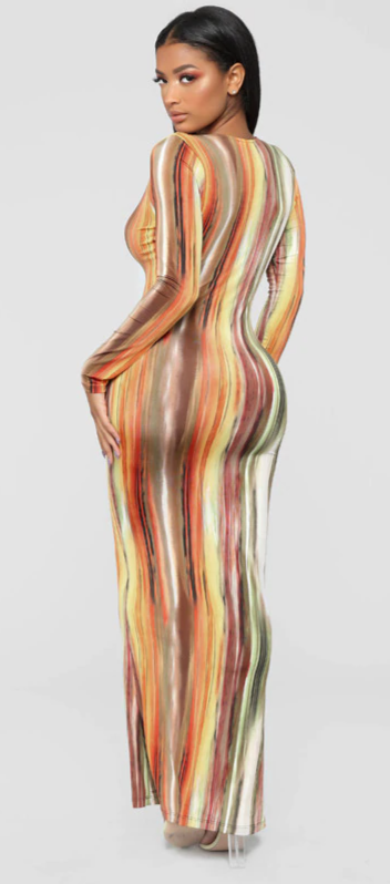 Dress Elegante Kolorido V-neck  3