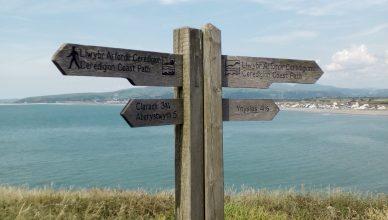 Wales Coastal Path Borth, Aberystwyth