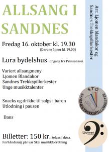 Allsang i Sandnes 2015-10-16