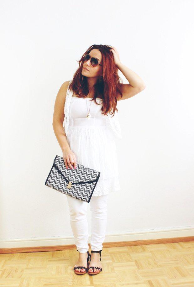 weiße Jeans komplett
