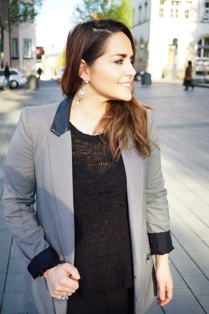 Black Grey Blazer