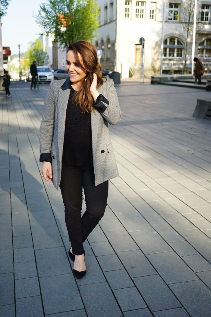 Black Grey Blazer 1