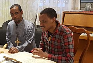 Students at the Tewahedo seminary