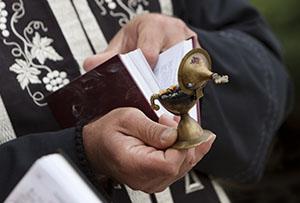 Priest conducting liturgy