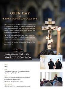 Sankt Ignatios Open day poster