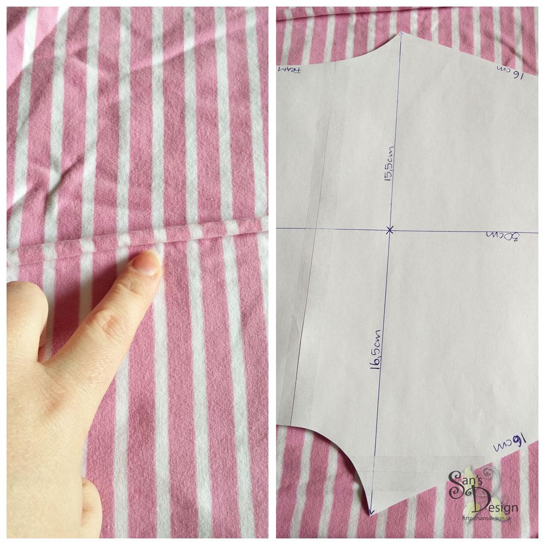 Mönsterpassa tyget när du klipper ut mönstret