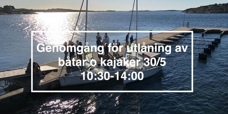 Genomgång för utlåning av båtar o kajaker