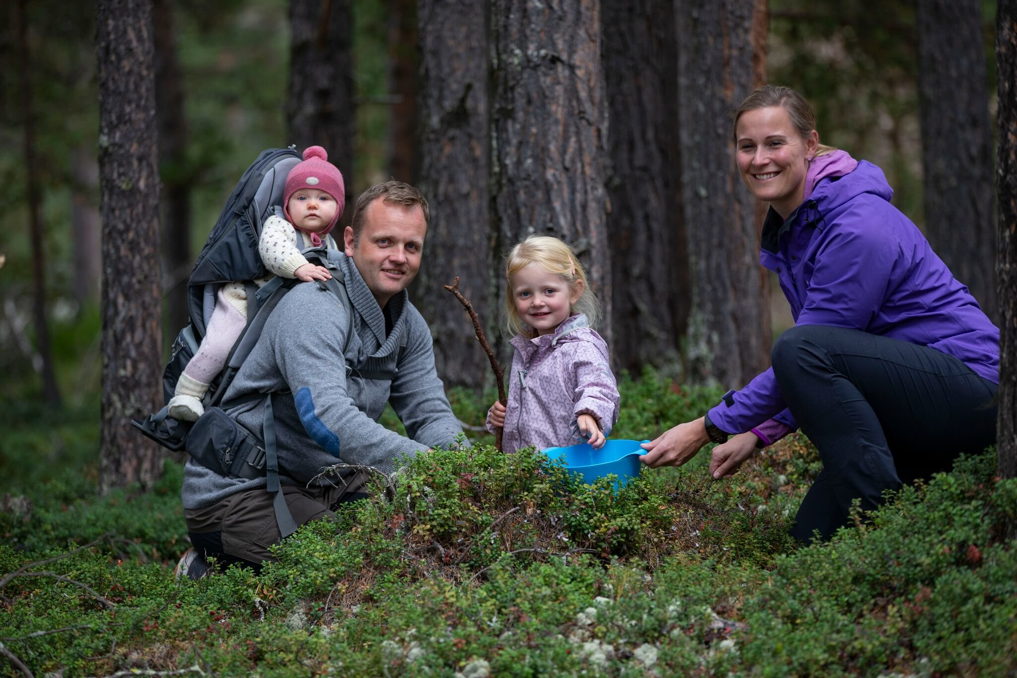 Familiekos i naturen