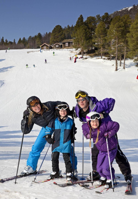 Familien på slalom