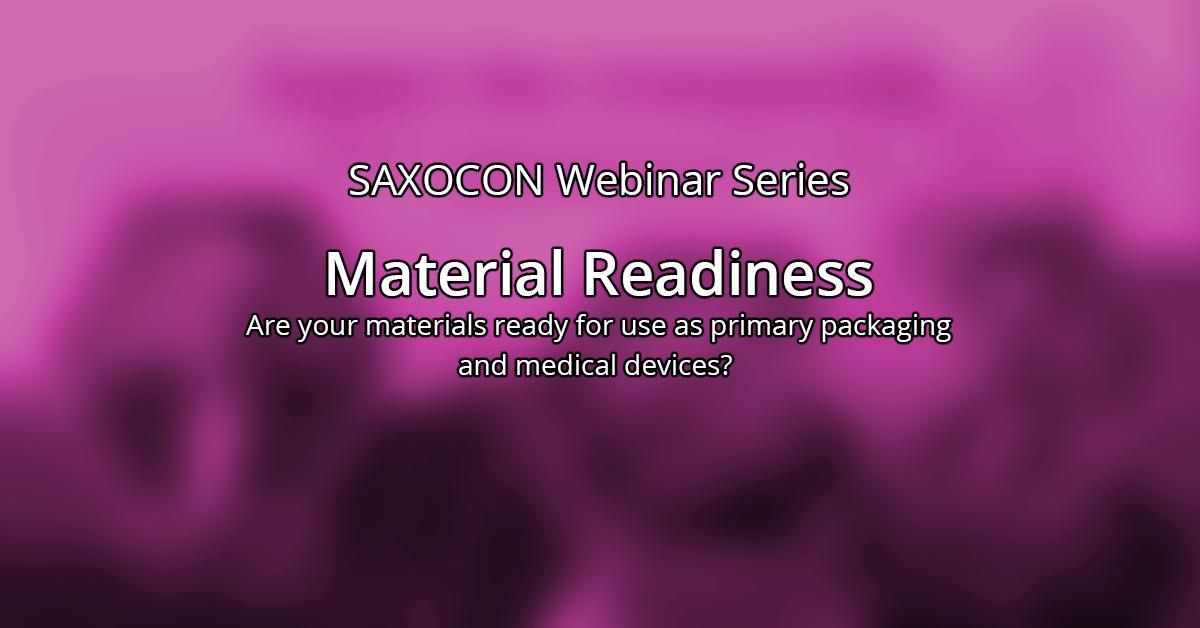 Material readiness webinar