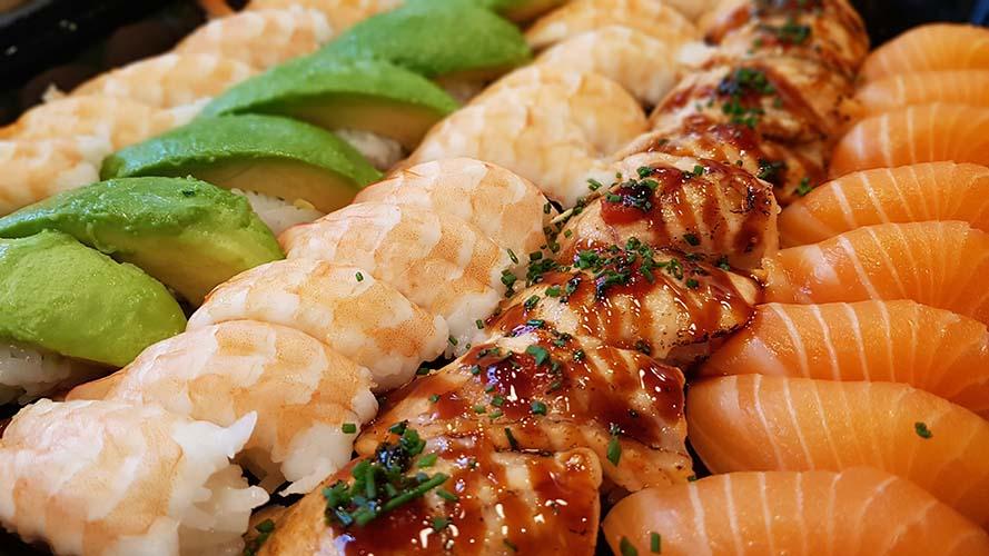 Catering lax, salmon, avokado, avocado, räkor, shrimps