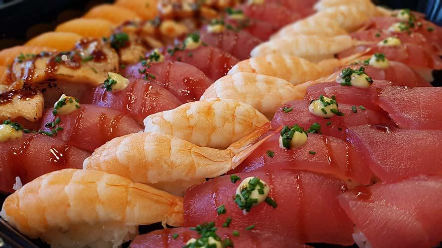 Catering lax, tonfisk, salmon, tuna.