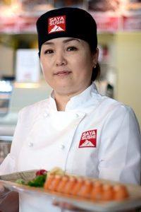 Upplevelse hyr en sushikock Saya Sushi