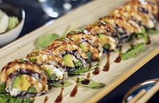Halstrade laxrullar seared salmon rolls