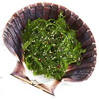 Lunch tillbehör sjögrässallad seaweed salad