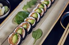 Maki utan ris lax salmon