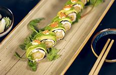 Maki utan ris tempura