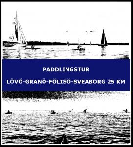 Paddlingstur Lövö-Granö-Fölisö-Sveaborg-Drumsö 25 km