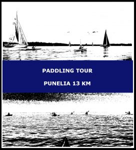 Paddling tour Punelia 13 km
