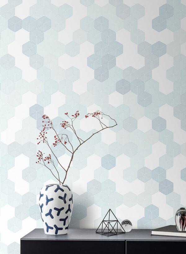 Hexagon-Blue-M