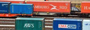 Rangierbahnhof (Rbf) Maschen -Richtungsgleise mit  Güterzugbildung und Güterzügen;