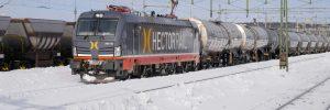 Godståg, Hector Rail, tankvagnar, vinter