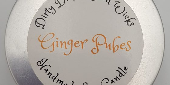 Dirty Dicks Wood Wicks Ginger Pubes Candle