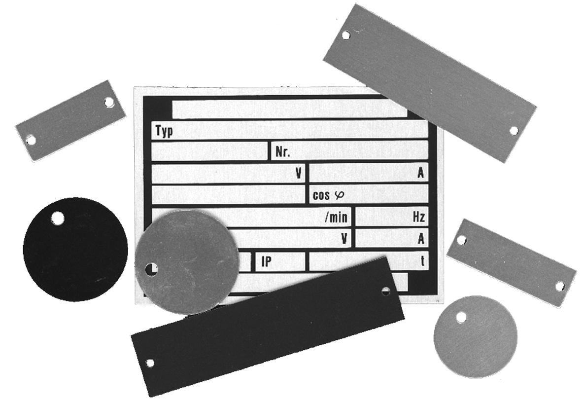 Abdeckplatten - Schäfer Kennzeichnungssysteme