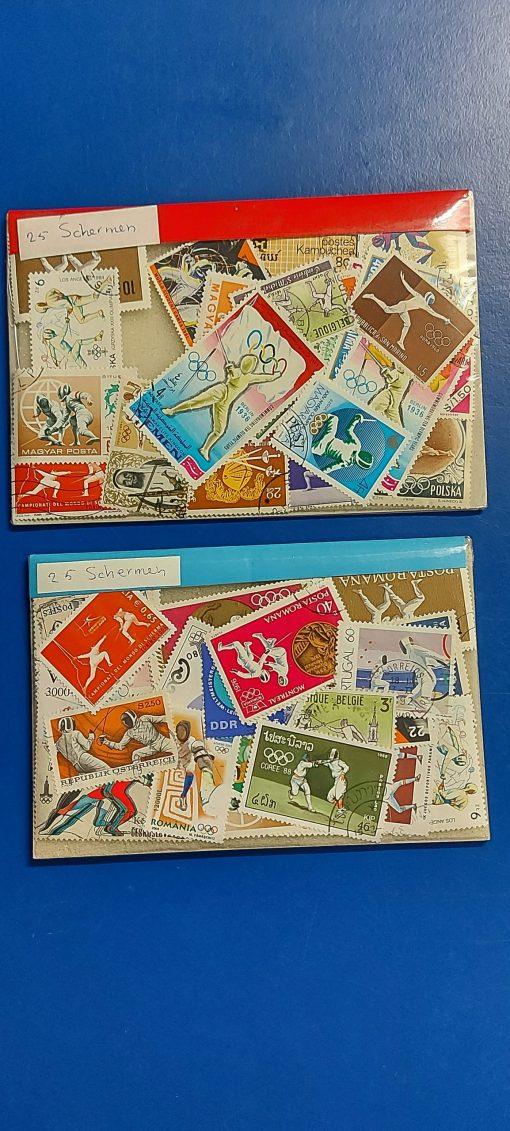 scherm postzegels 50 stuks