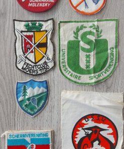 Badges schermen diverse schermclubs vintage