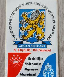 Sticker KNAS JWK onder de twintig Papendal