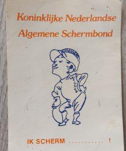 Sticker KNAS promotie uit jaren 70