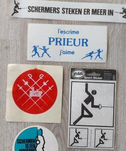 Stickers promotie schermen vintage