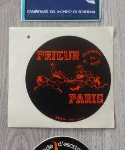 Stickers vintage schermen Wereldkampioenschappen