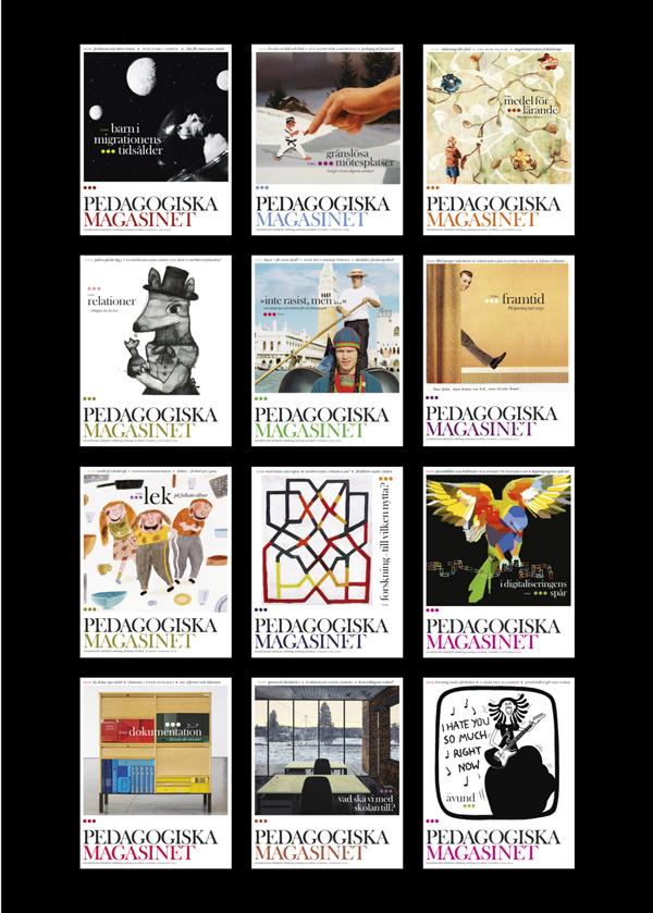 Schölanderdesign, pedagogiska magasinet, omslag