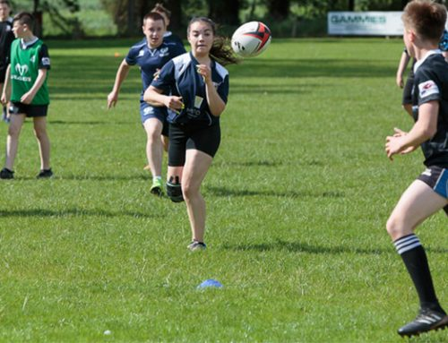 Royal visitors see Angus rugby charity projects in action
